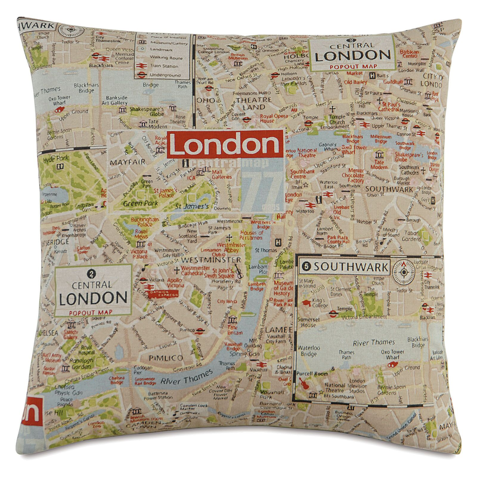 Passport Mind the Gap Throw Pillow