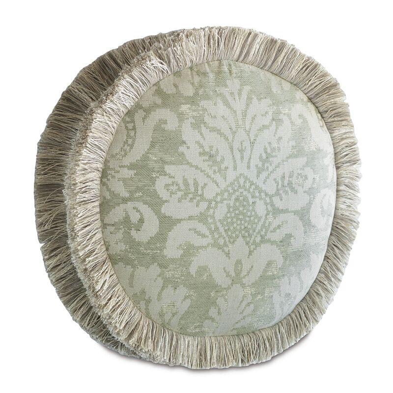 Lourde Celadon Tambourine Throw Pillow