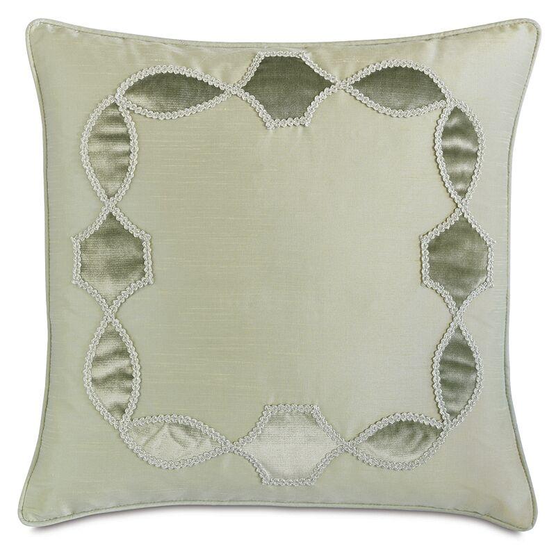 Lourde Edris Mist Gimp Throw Pillow
