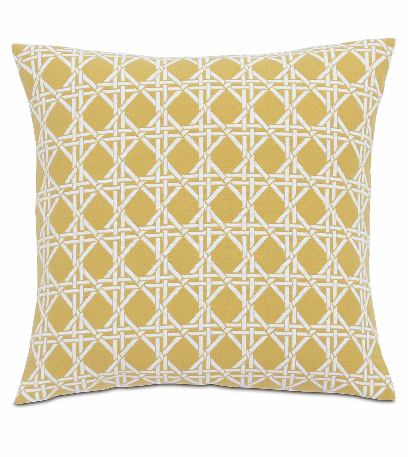 Lavinia Larkin Cotton Throw Pillow Color: Sun