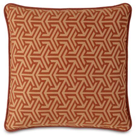Mondrian Throw Pillow Color: Canyon
