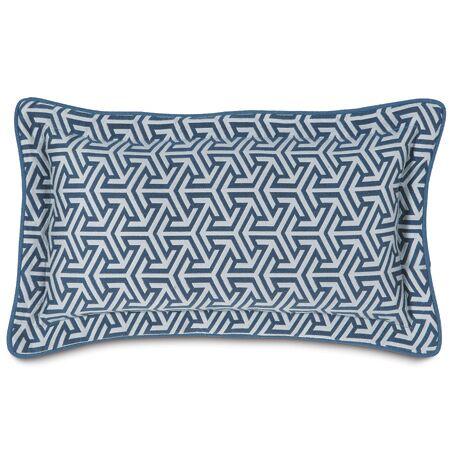 Mondrian Lumbar Pillow Color: Water