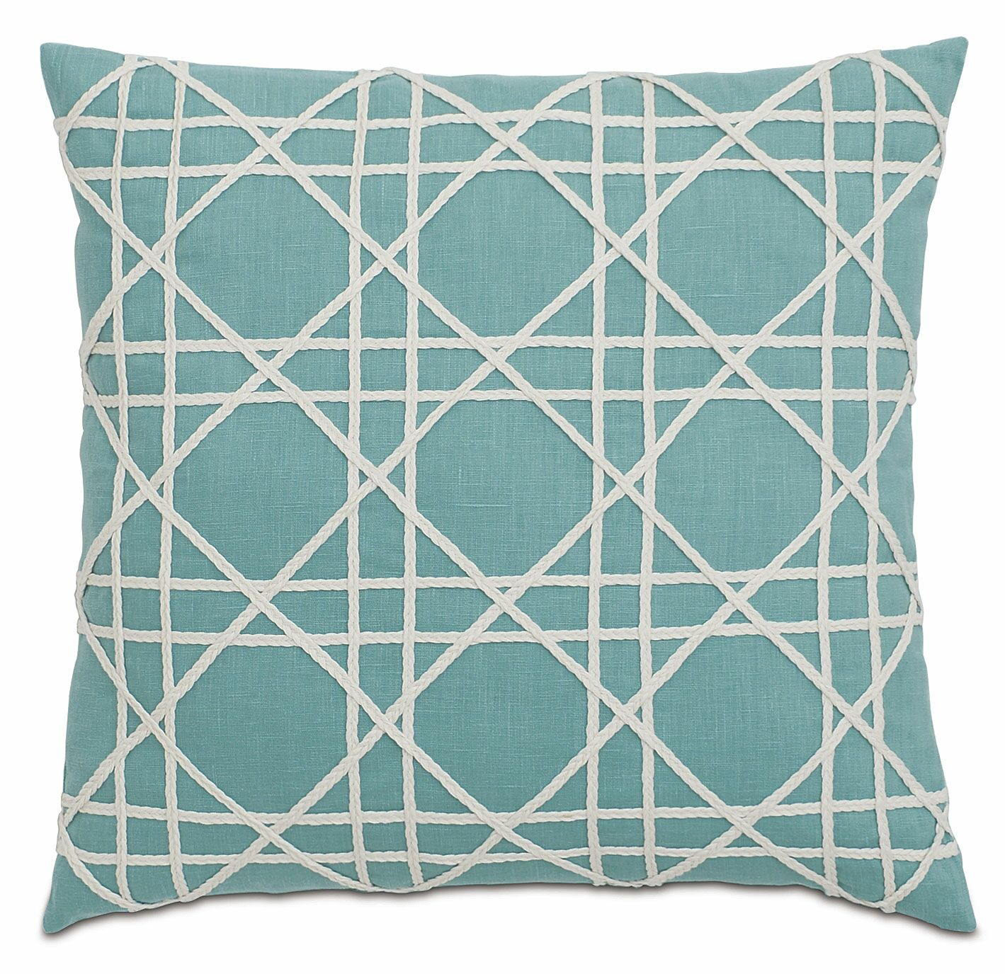 Lavinia Linen Throw Pillow Color: Aqua