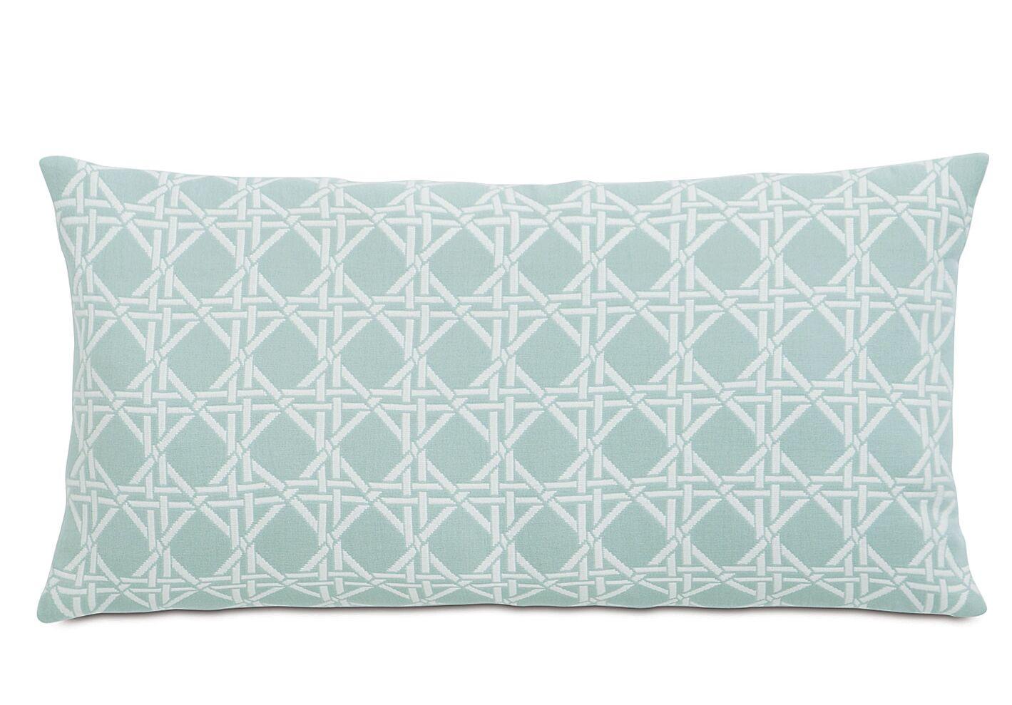 Lavinia Larkin Cotton Throw Pillow Color: Sea