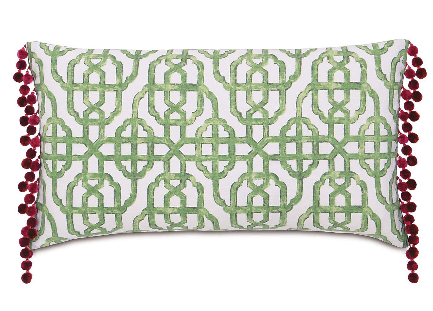 Tresco Levens Trellis Cotton Lumbar Pillow