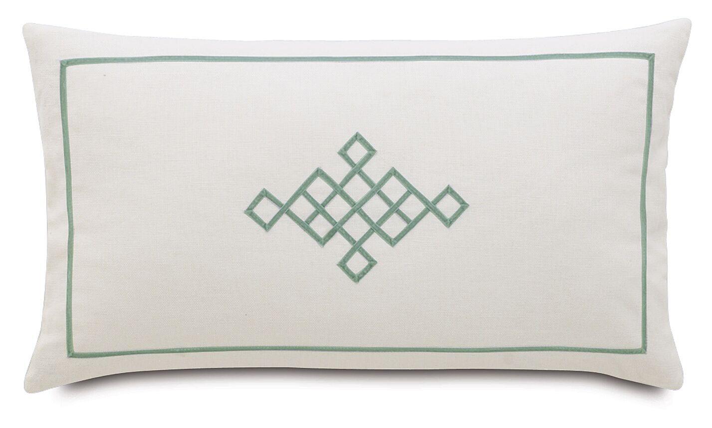 Magnolia Ribbon Design Lumbar Pillow