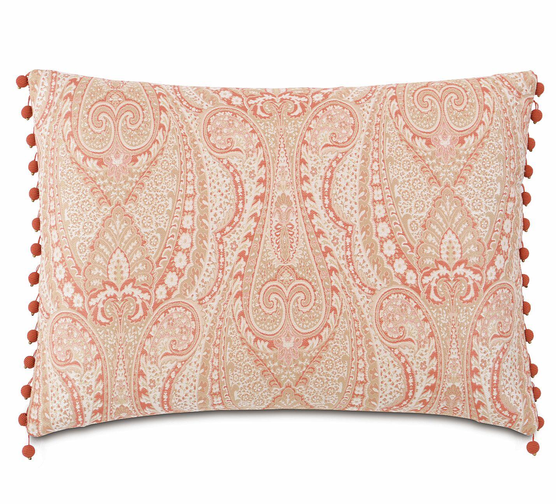 Rena Carnation with Beaded Trim Lumbar Pillow