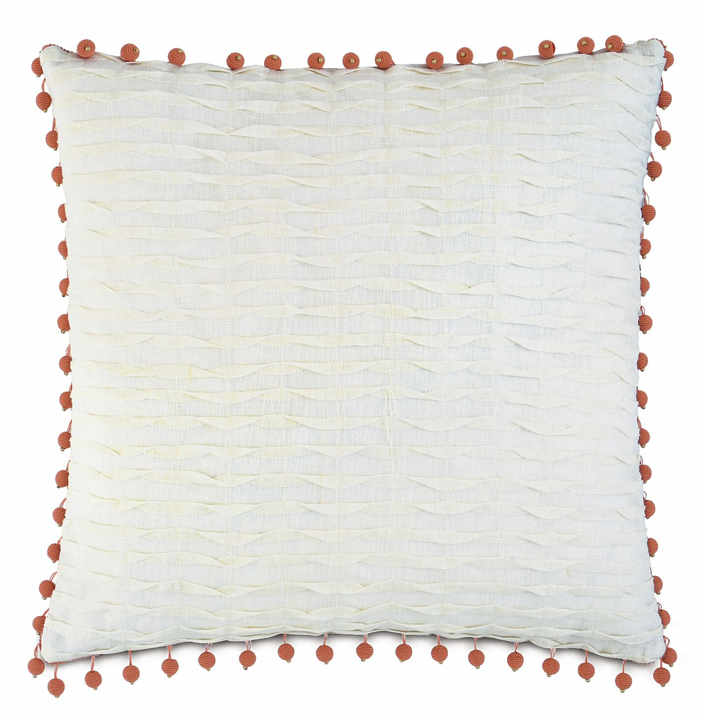 Rena Yearling Pearl Linen Throw Pillow