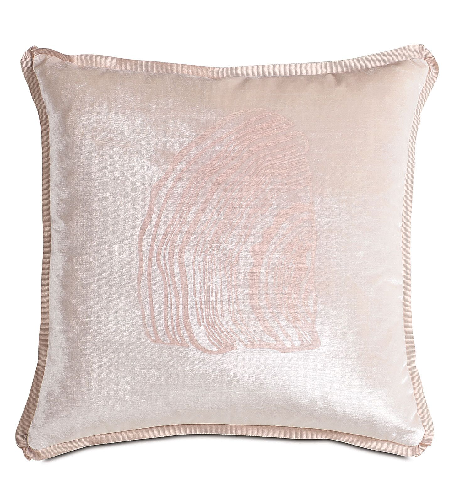 Halo Velda Snow Block-Printed Throw Pillow