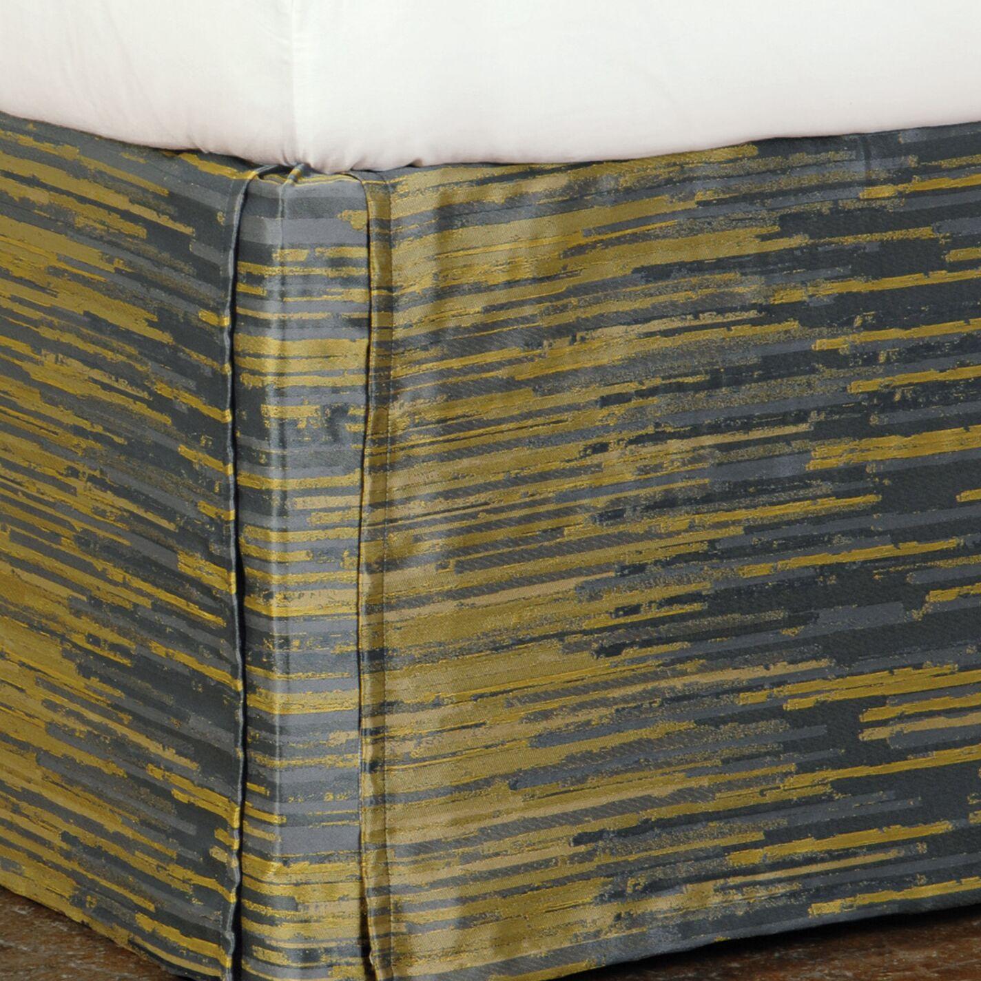 Pierce Horta Bed Skirt Size: King, Color: Olive