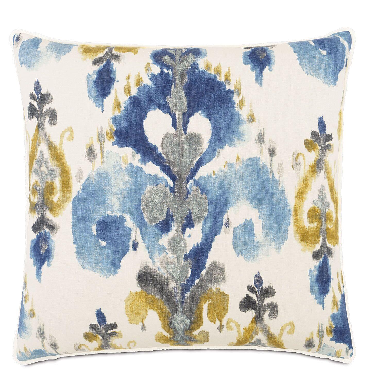 Aoki Azure Linen Throw Pillow