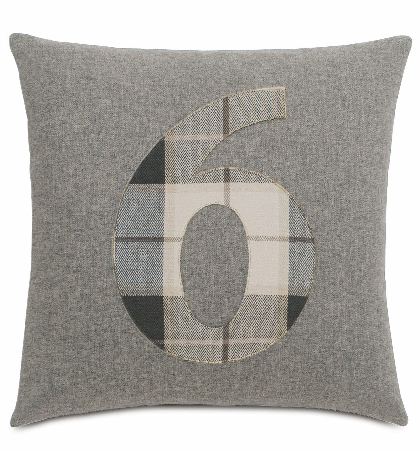 Digits 6 Throw Pillow