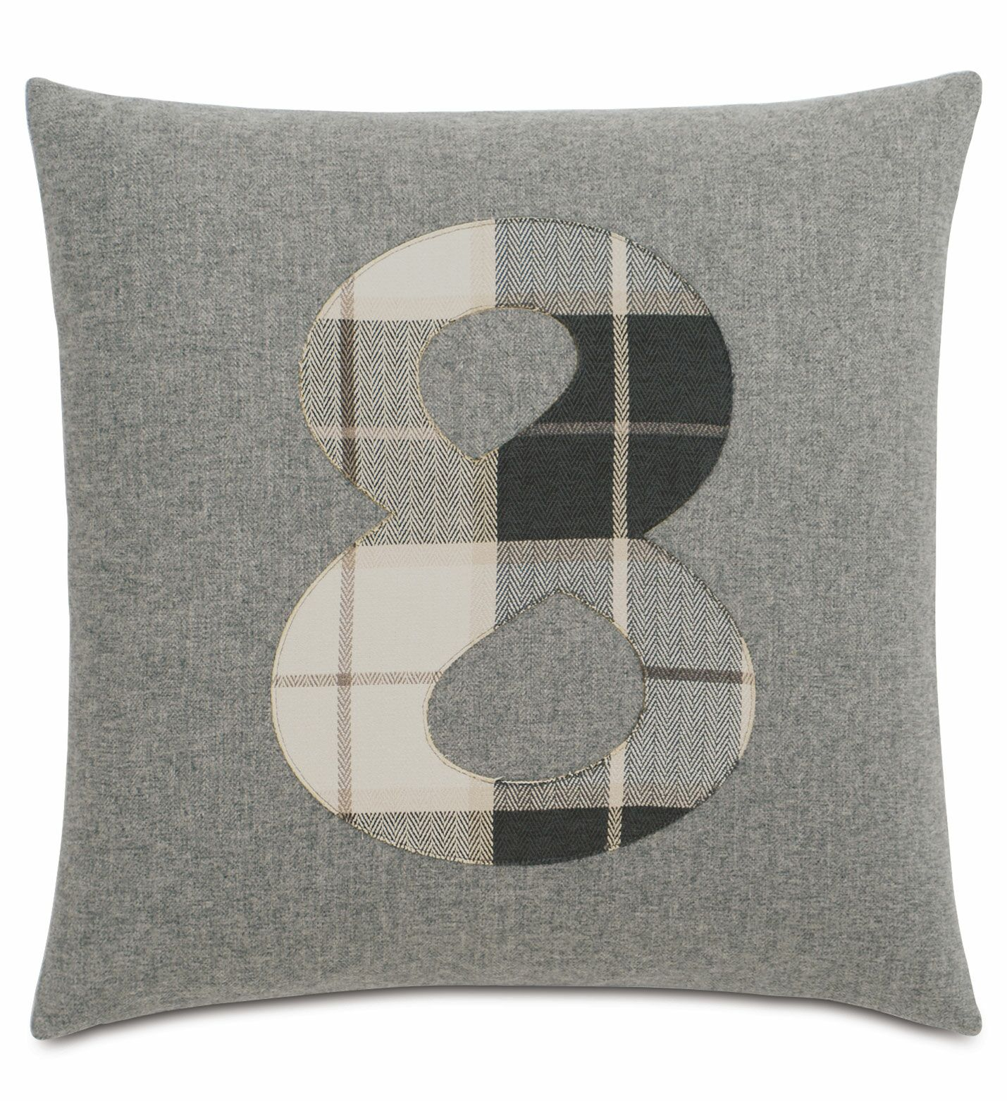 Digits 8 Throw Pillow
