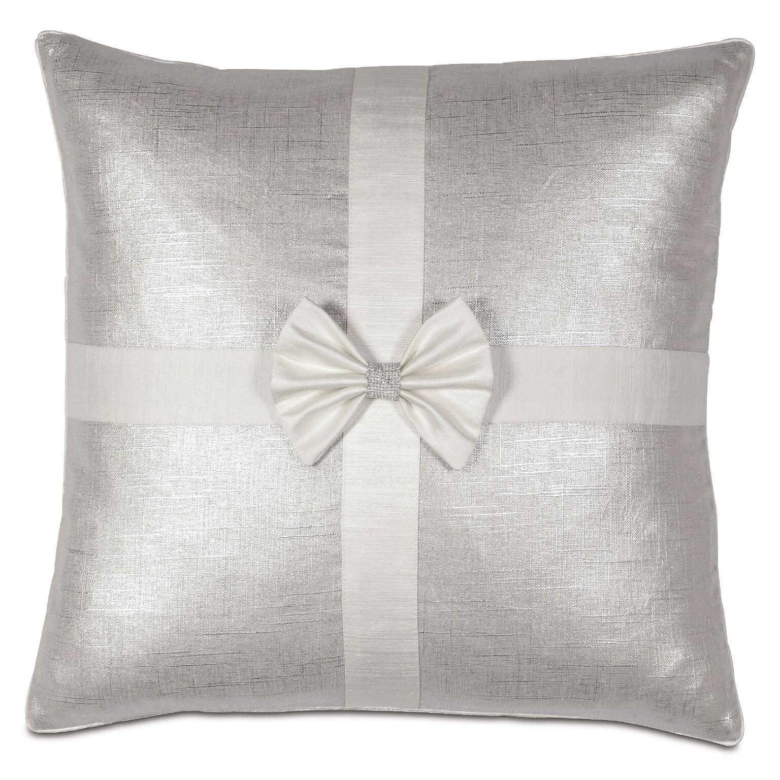 Gift Throw Pillow Color: Silver