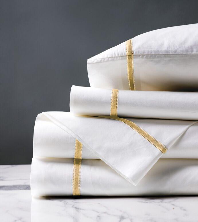 Gala 4 Piece 200 Thread Count Egyptian-Quality Cotton Sheet Set Color: Lemon, Size: California King