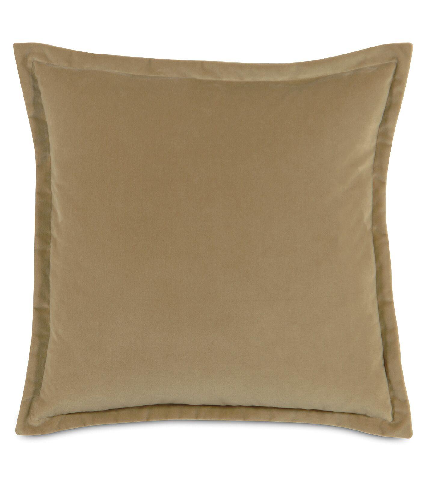 Jackson Solid Velvet Throw Pillow Size: 20