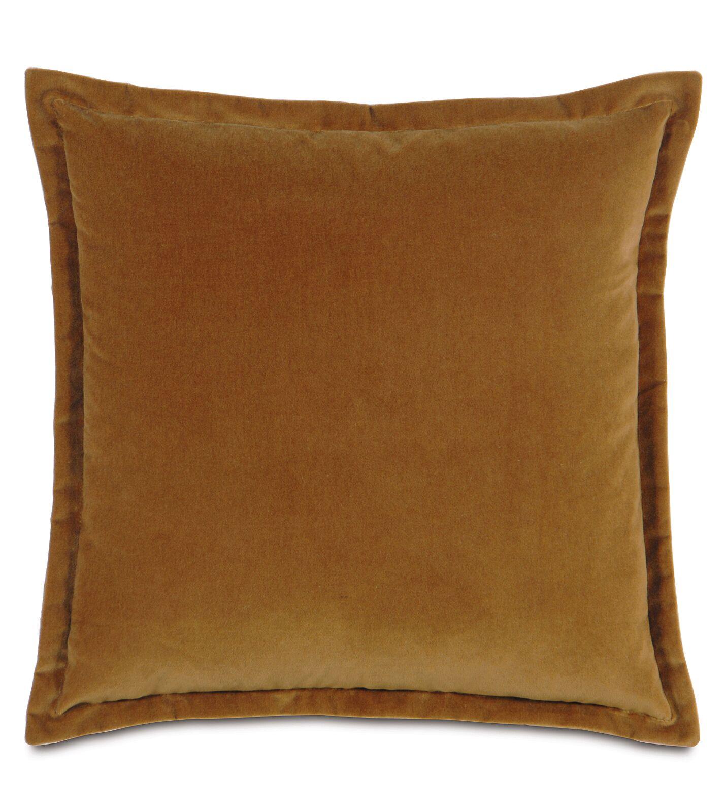Jackson Solid Velvet Throw Pillow Size: 15
