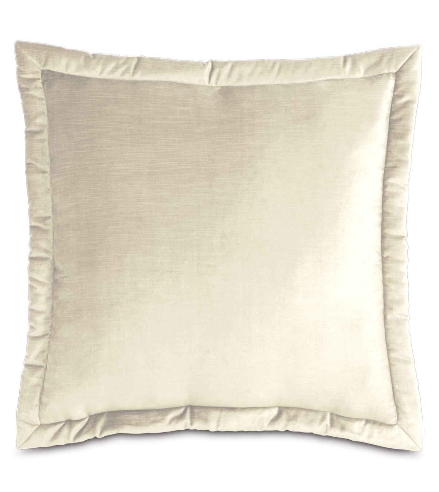 Lucerne Reuss Mitered Flange Velvet Sham Size: 20