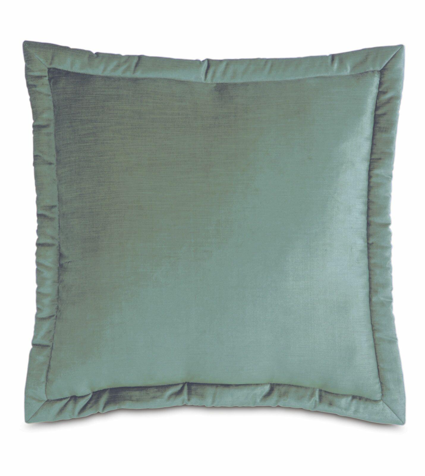 Lucerne Reuss Mitered Flange Velvet Sham Size: 27