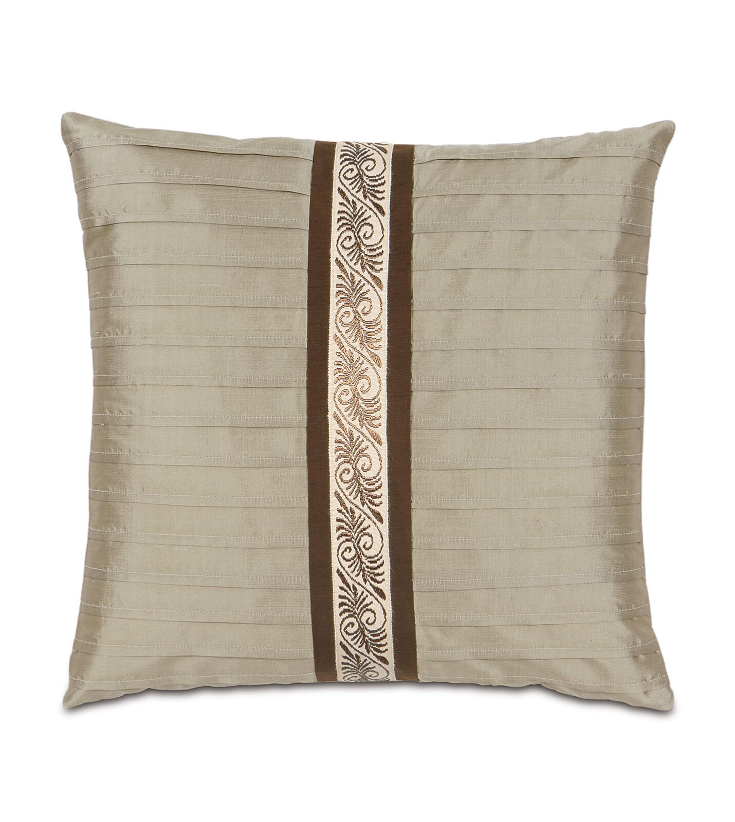 Michon Serico Pintucked Silk Throw Pillow
