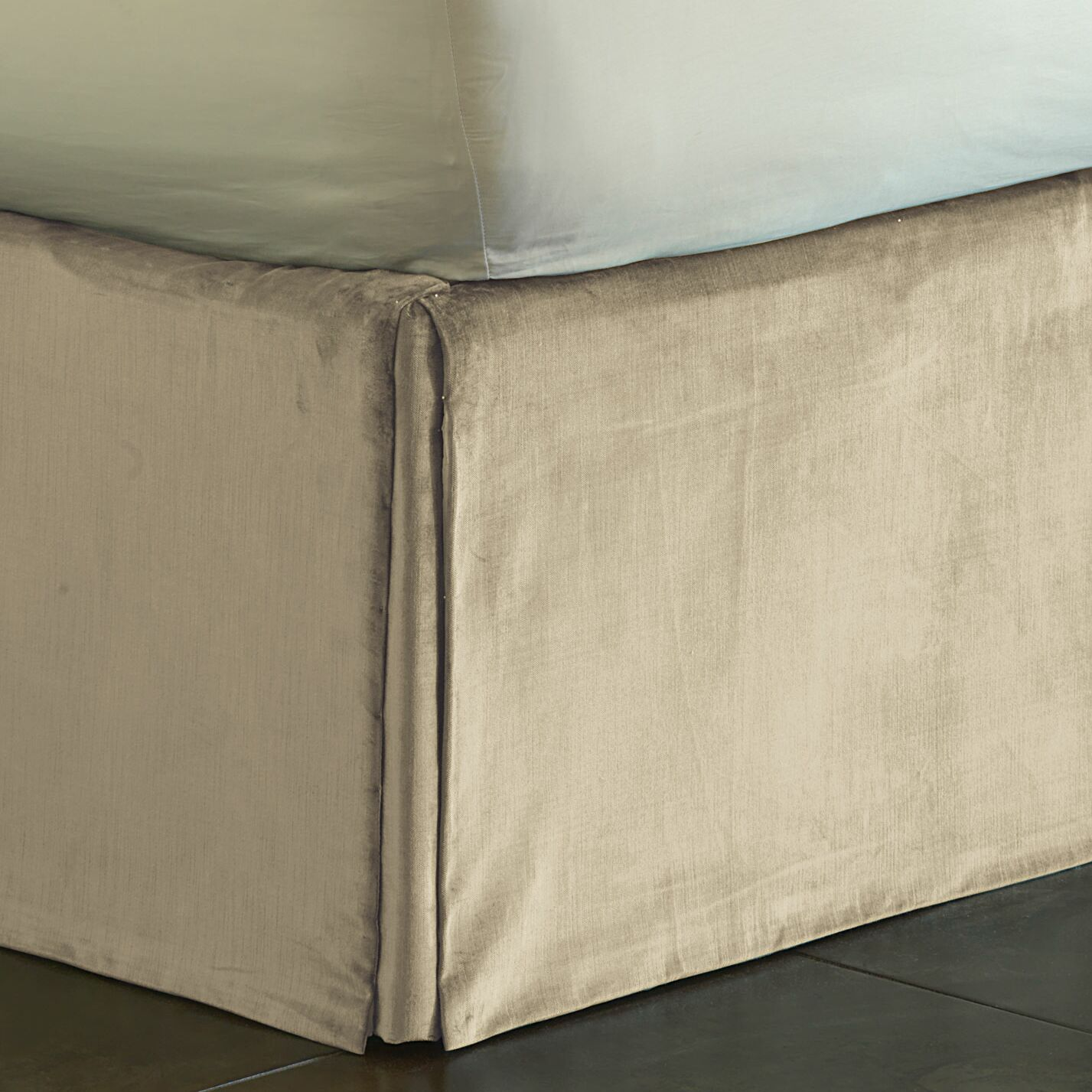 Lucerne Pleated Bed Skirt Size: Daybed, Color: Taupe