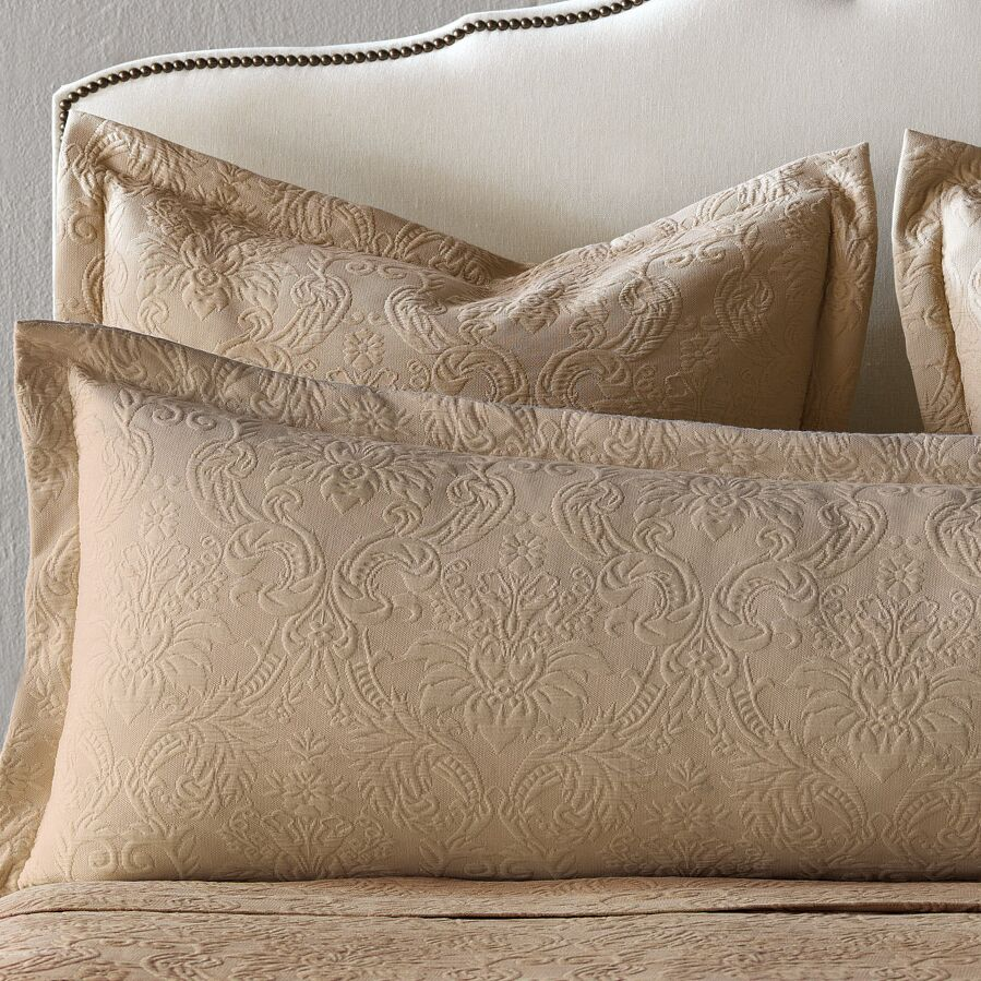 Sandrine Matelasse Cotton Lumbar Pillow Color: Maple, Size: King