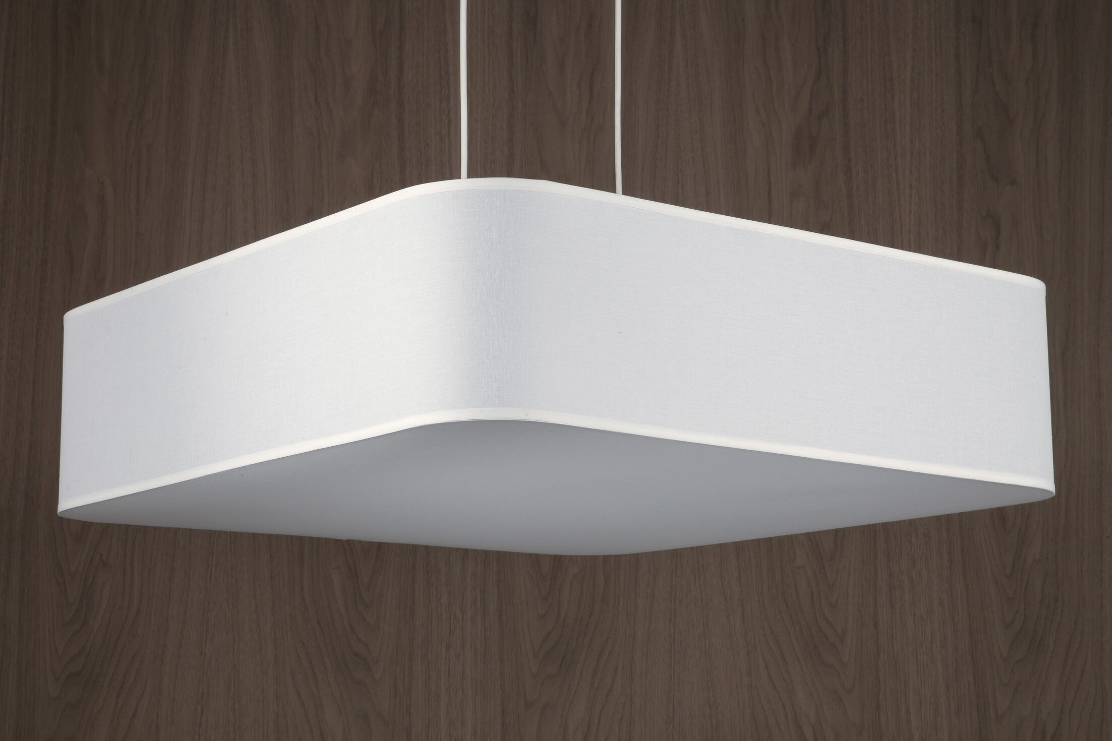 Blip 4-Light Square/Rectangle Chandelier Shade Color: White Oak Veneer