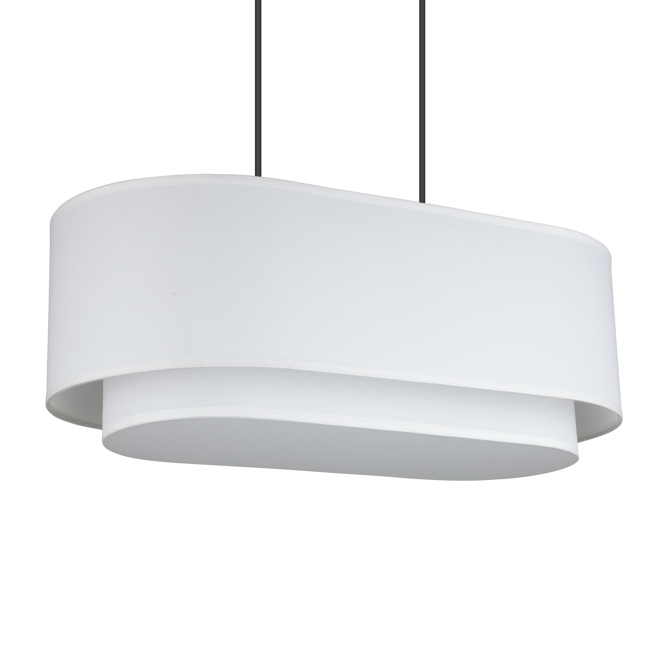 Blip 4-Light Pendant Shade Color: Eggshell Silk Glow