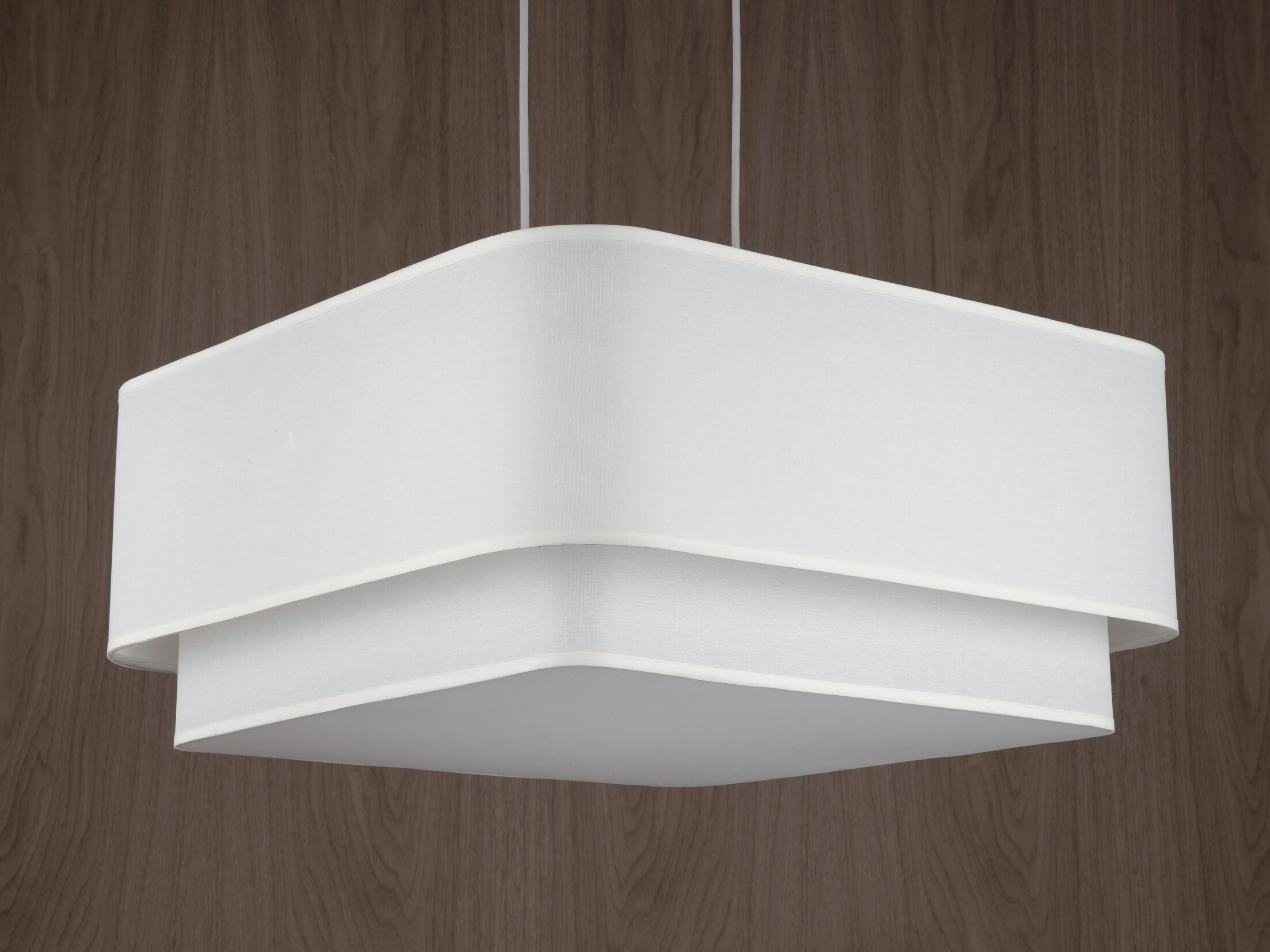 Blip 4-Light Square/Rectangle Chandelier Shade Color: Red Dupioni