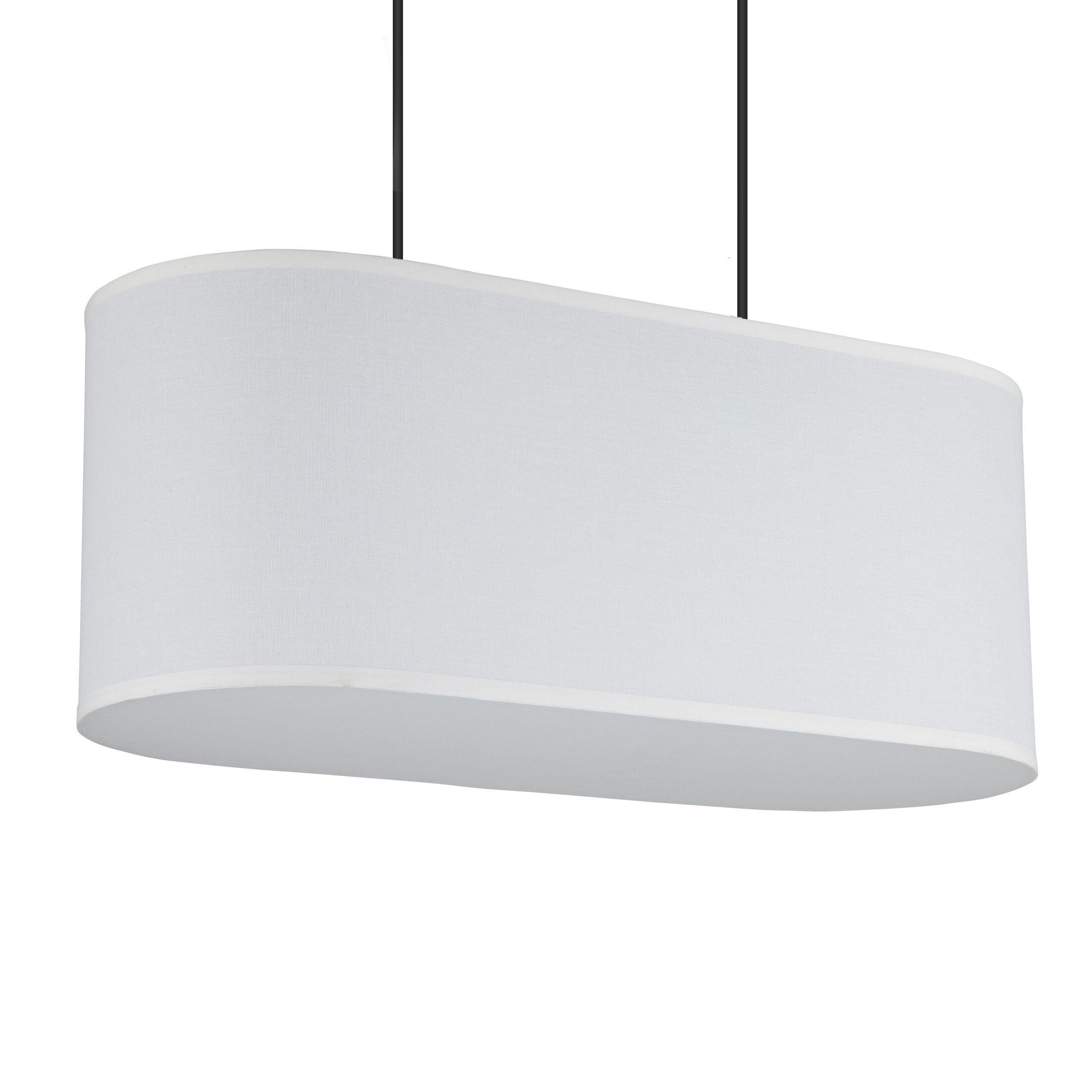 Blip 2-Light Pendant Shade Color: White Linen