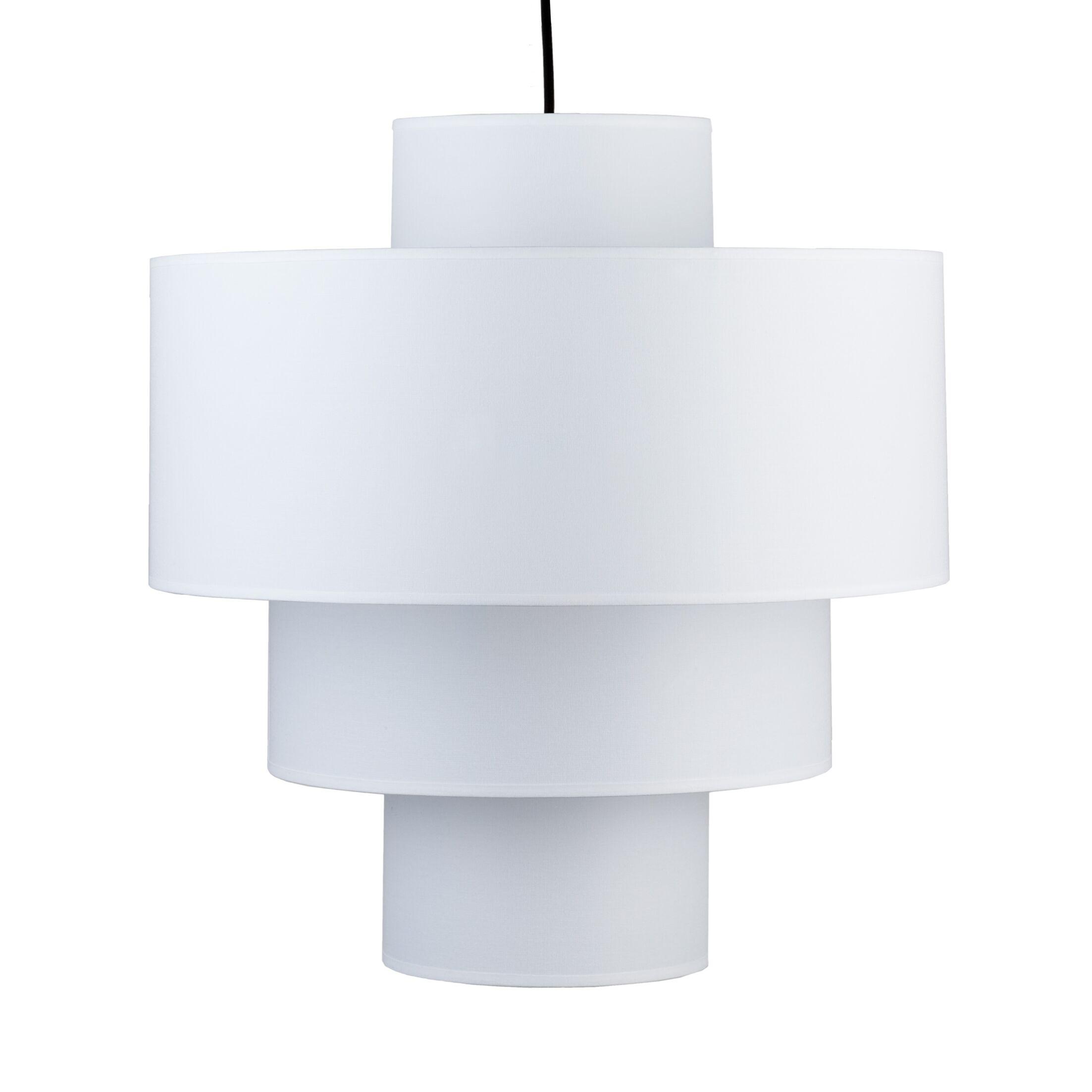 Deco 1-Light Pendant Shade: White Linen