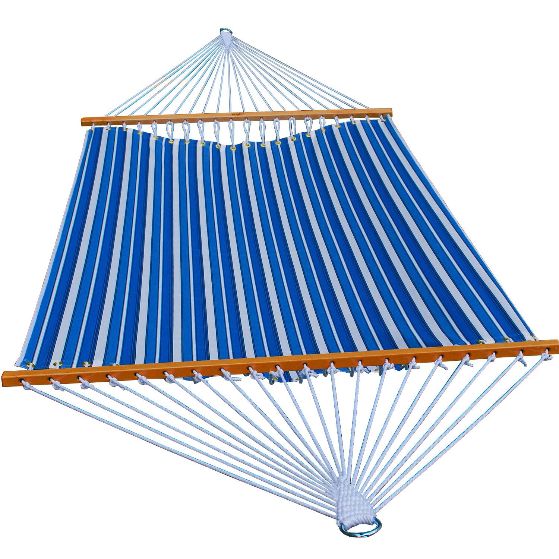Polyester Tree Hammock Color: Palm Stripe Blue, Size: 11'