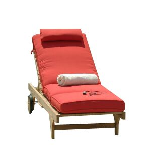 Boxed Indoor/Outdoor Chaise Lounger Cushion Fabric: Air Blue