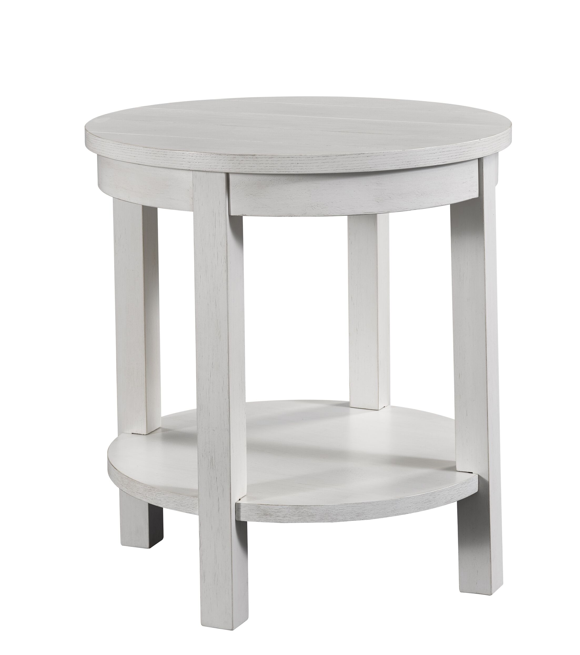 Ashgrove End Table Color: White