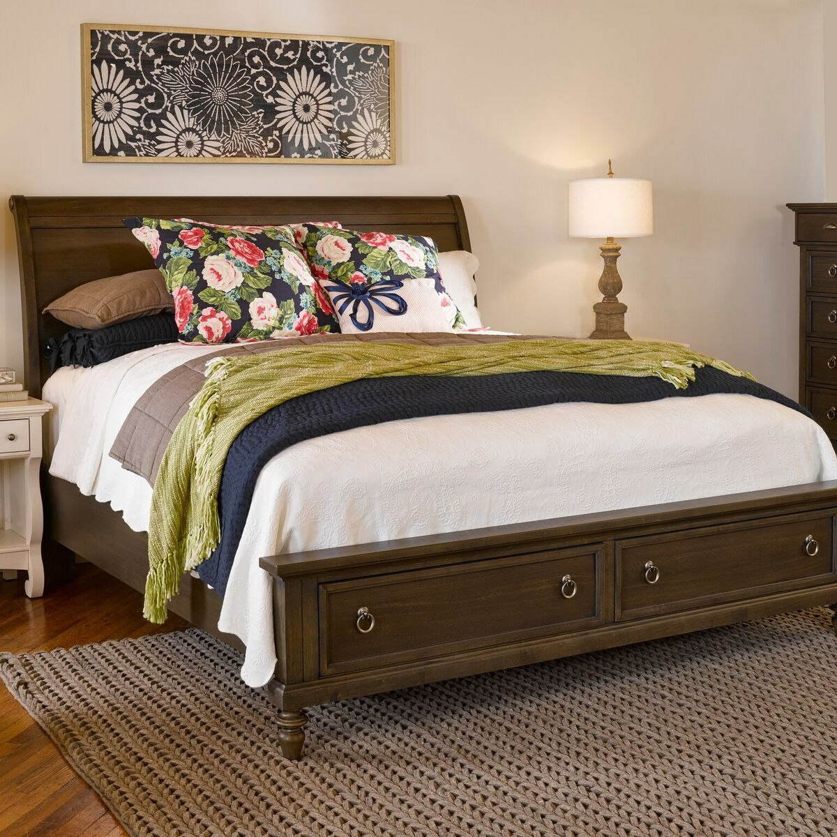 Ashgrove Storage Sleigh Bed