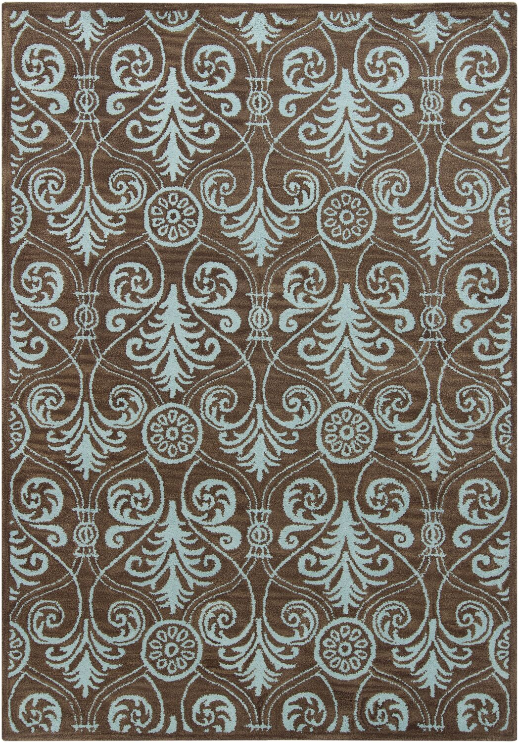Geren Brown Abstract Area Rug Rug Size: 5' x 7'