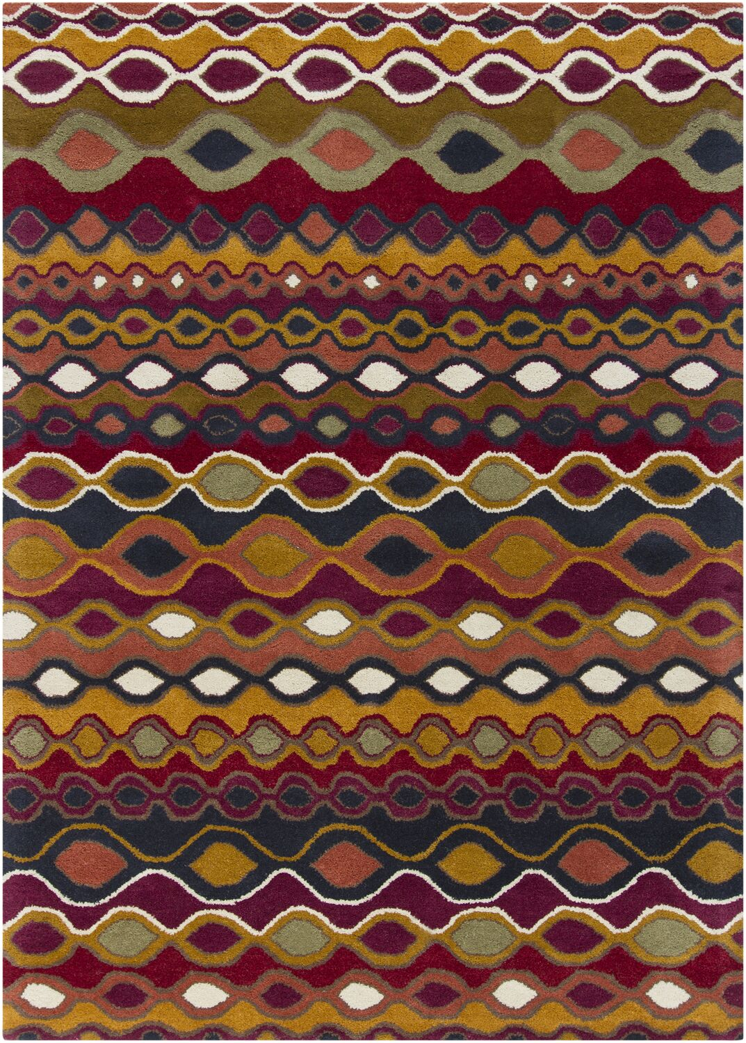 Carol Abstract Area Rug Rug Size: 7' x 10'