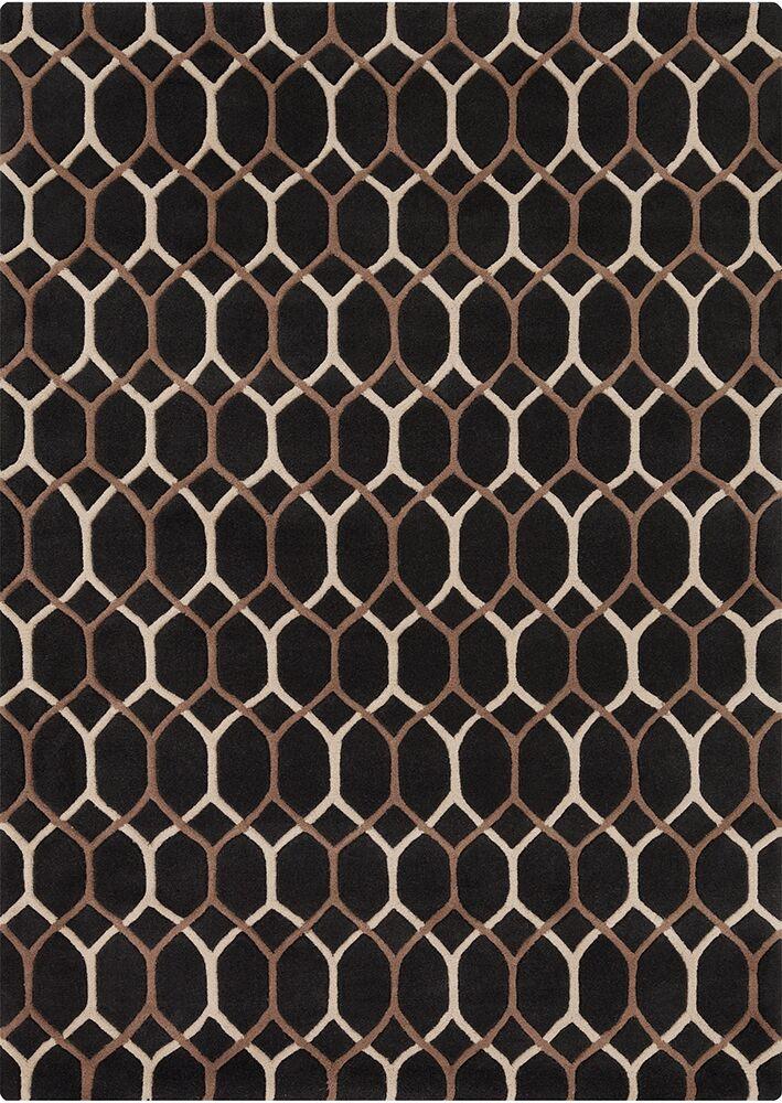 Nikisha Black Geometric Rug Rug Size: 5' x 7'