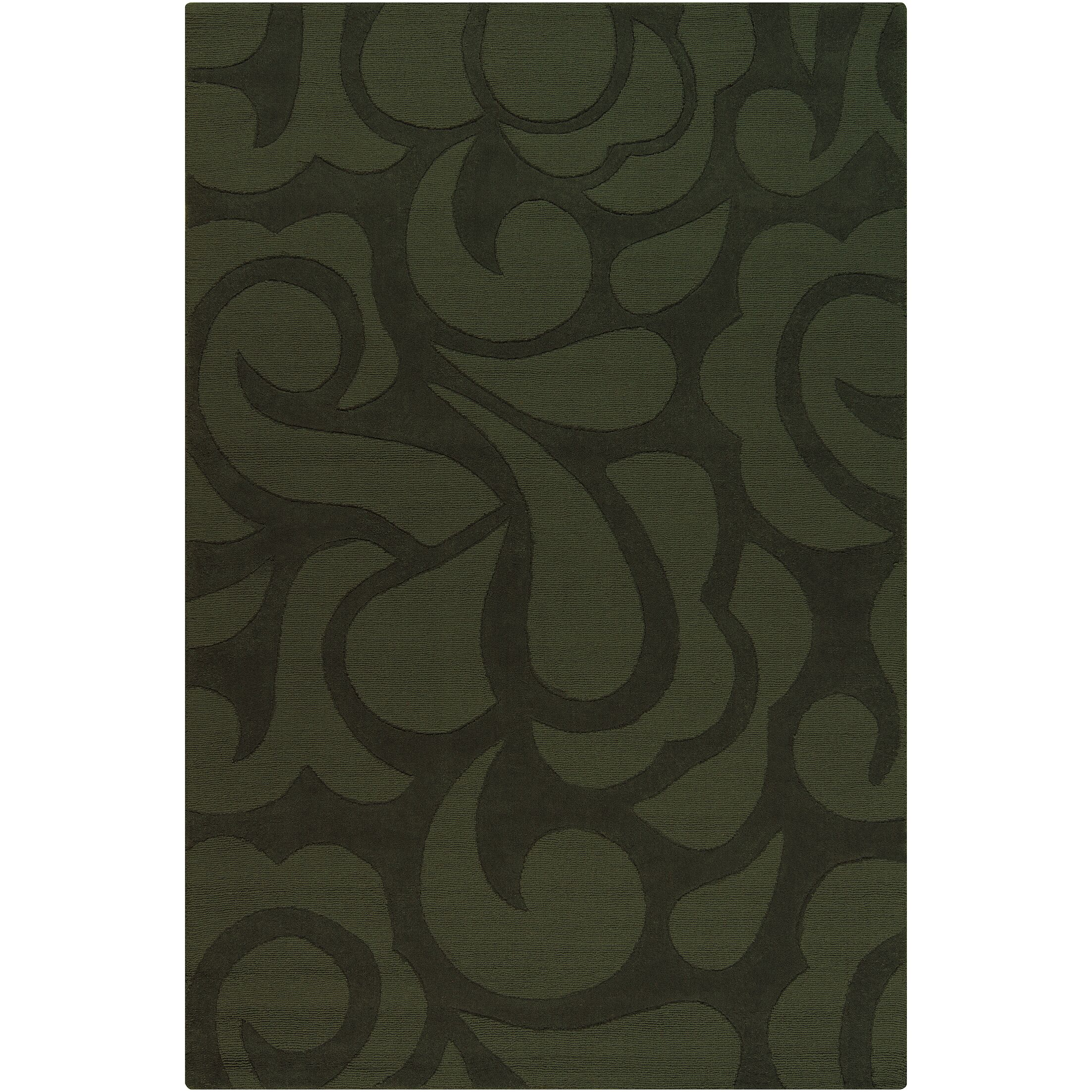 Stehle Green Area Rug Rug Size: 5' x 7'6