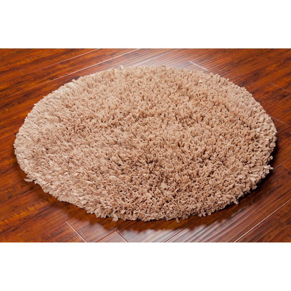 Benitez Tan Brown Area Rug Rug Size: Round 4'