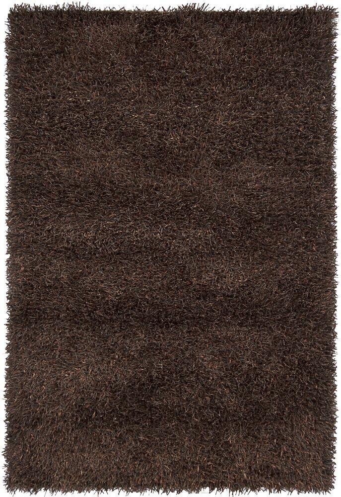 Arae Dark Brown Area Rug Rug Size: 5' x 7'6