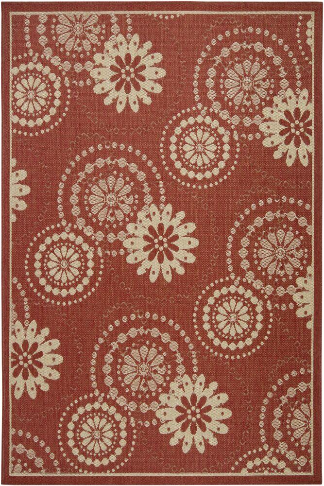 Piyush Wool Red Area Rug Rug Size: 5' x 8'
