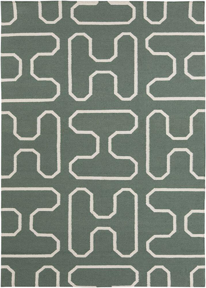 Casas Green Geometric Rug Rug Size: 7' x 10'