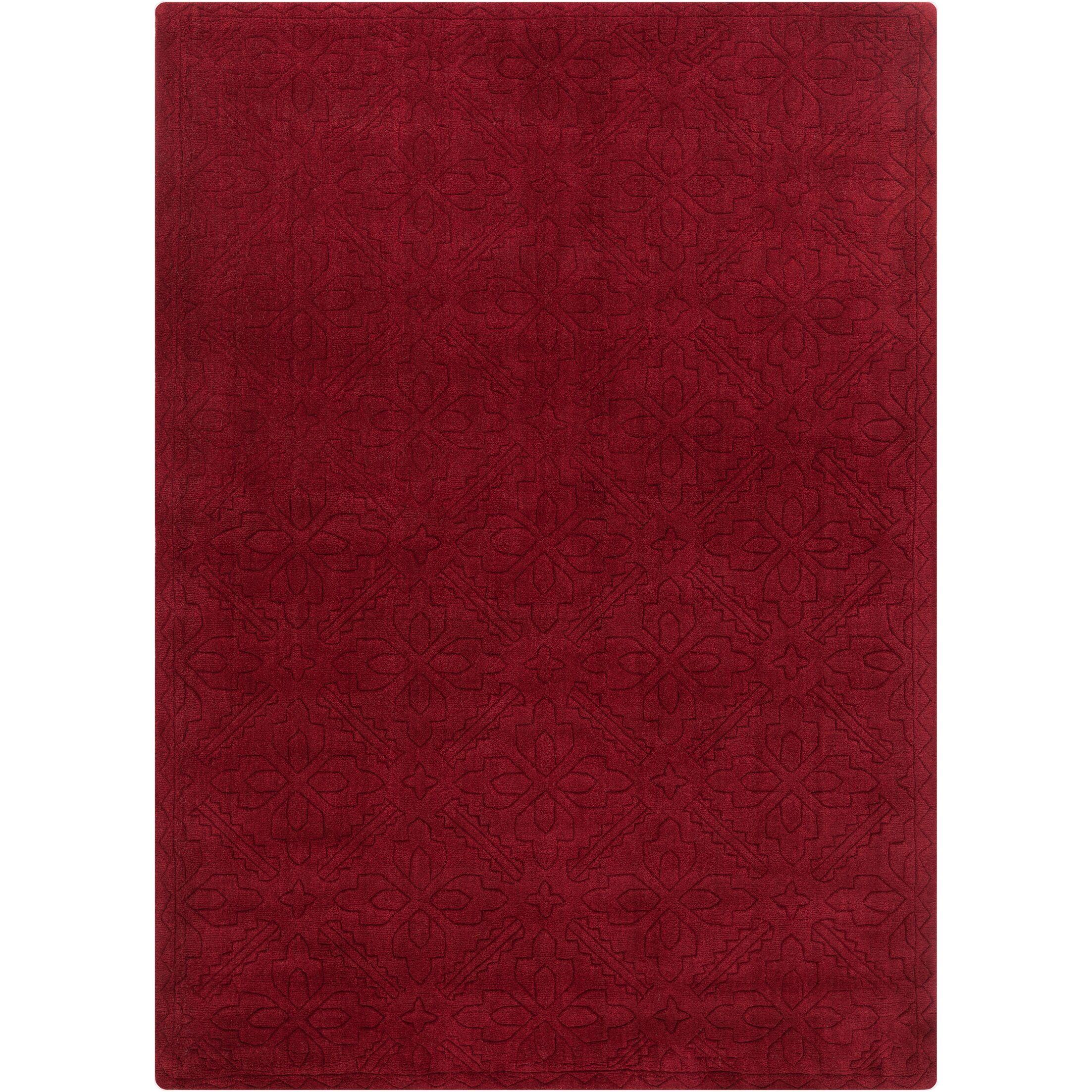 Jamison Burgundy Area Rug Rug Size: 5' x 7'