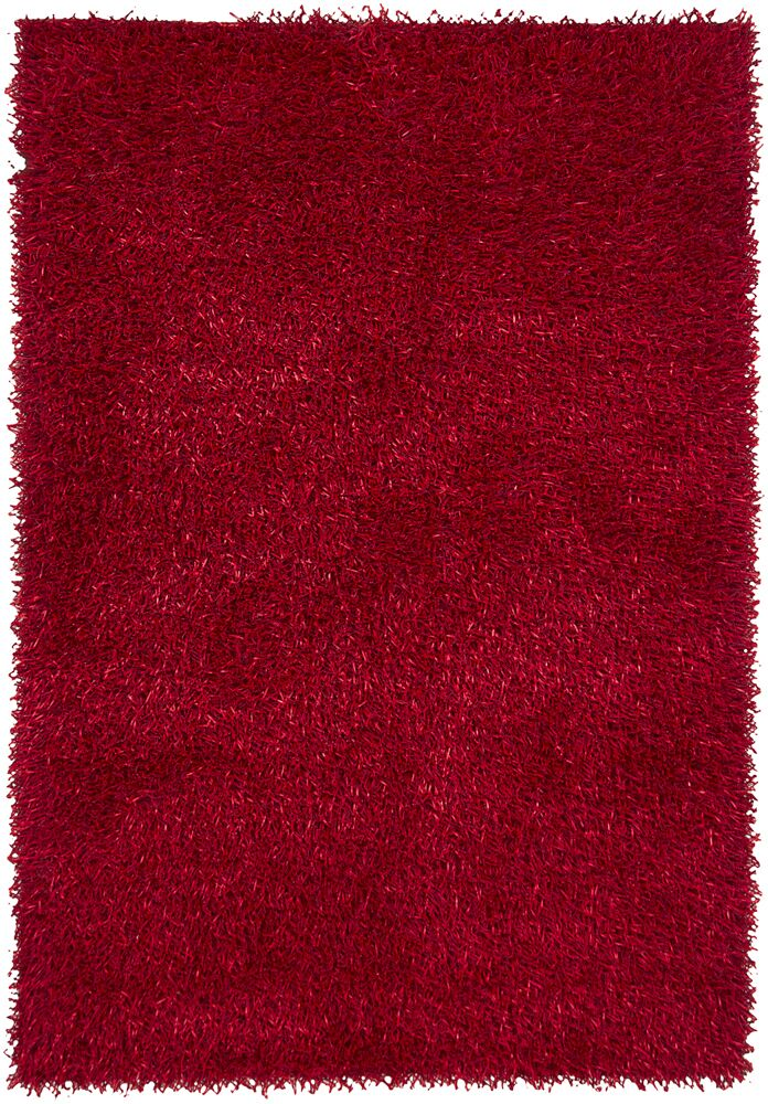 Estella Red Area Rug Rug Size: 7'9