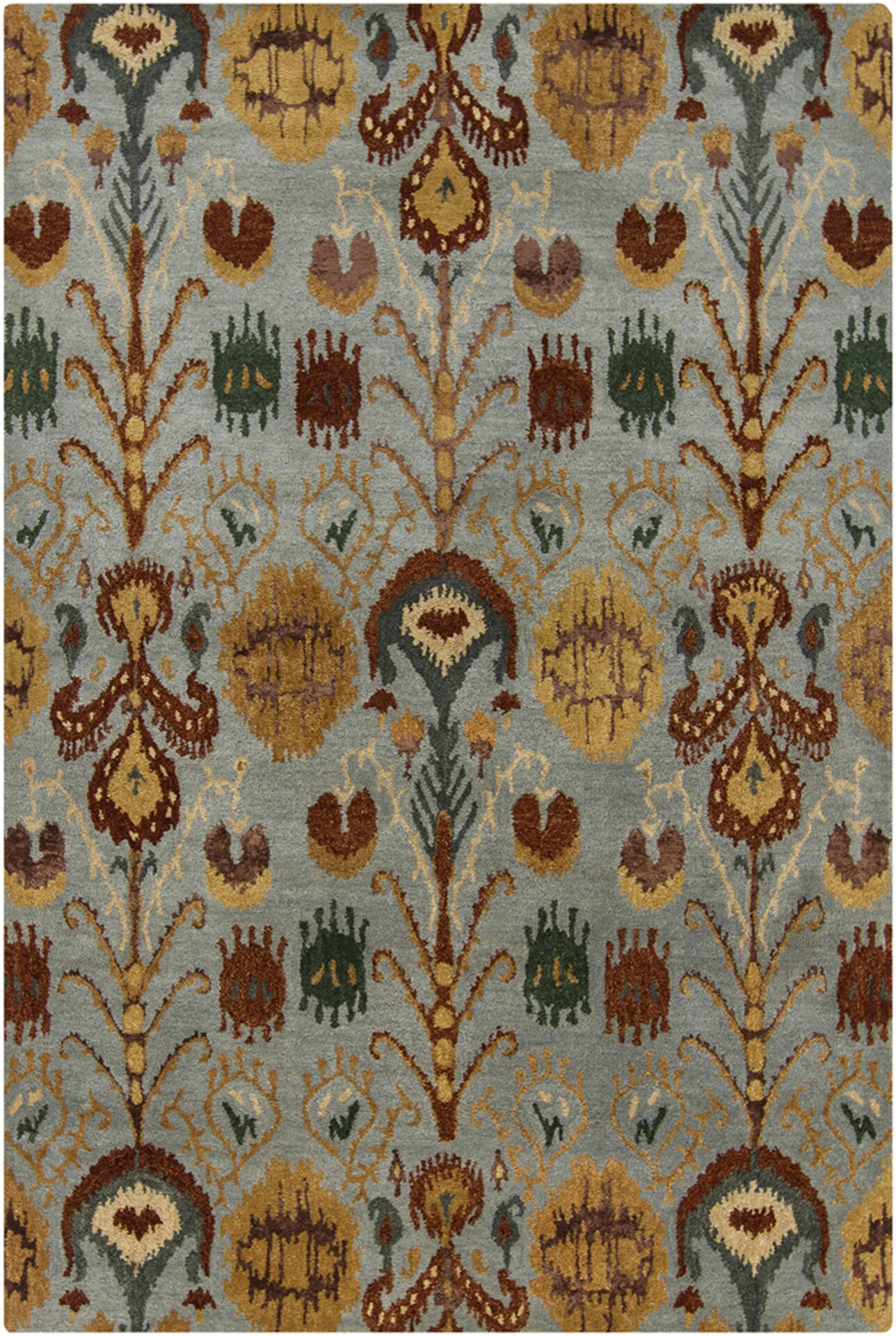 Forbis Tan Abstract Area Rug Rug Size: 9' x 13'