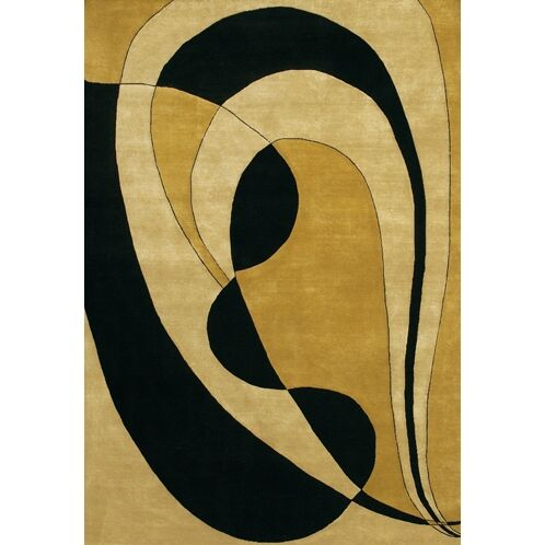 Caines Wool Gold/Yellow Area Rug Rug Size: Rectangle 2' x 3'