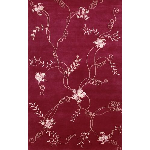 Caines Red Area Rug Rug Size: Rectangle 7'9