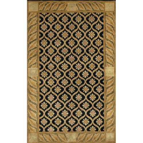 Caines Black/Gold Area Rug Rug Size: Rectangle 2' x 3'