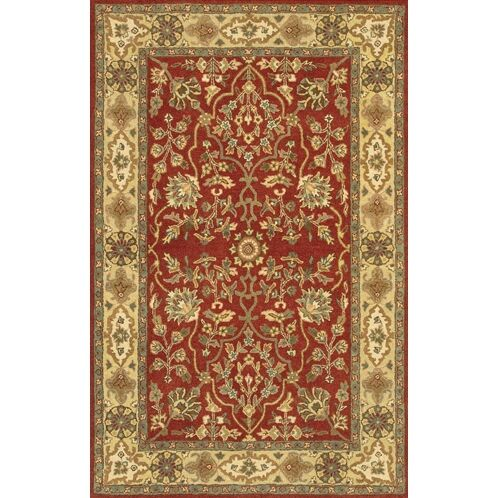 Westlake Red Area Rug Rug Size: Round 7'9